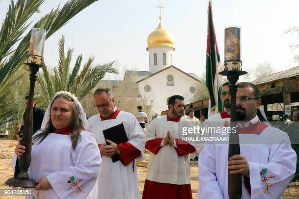 Christian clerics attend an annual pilgrimage to Bethany beyond the Jordan river the site where many believe Jesus Christ was baptised west of the...