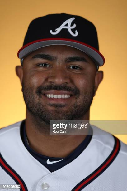 Christian Colon of the Atlanta Braves poses for a photo during photo days at Champion Stadium on February 22 2018 in Lake Buena Vista Florida