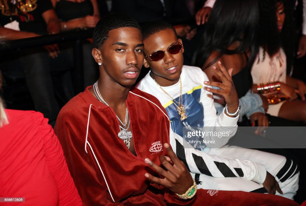 Christian Combs and Bay Swag attend the 2017 BET Hip Hop Awards on October 6, 2017 in Miami Beach, Florida.
