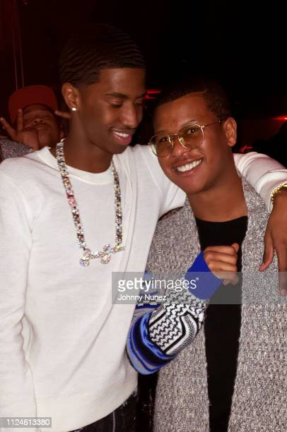 Christian Combs and Gianni Harrell attend the Run Loubi Run New York Screening at Public Hotel on February 12 2019 in New York City