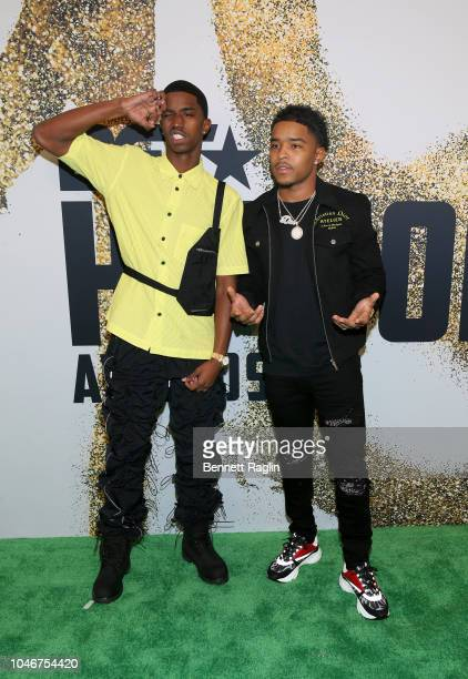 Christian Combs and Justin Combs arrive at the BET Hip Hop Awards 2018 at Fillmore Miami Beach on October 6 2018 in Miami Beach Florida