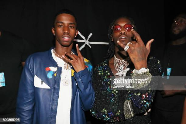 Christian Combs and Offset backstage at the 2017 BET Awards at Microsoft Theater on June 25 2017 in Los Angeles California
