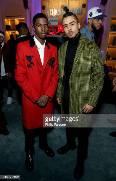 Christian Combs and Quincy Brown attend the 2018 GQ x Neiman Marcus All Star Party at Nomad Los Angeles on February 17 2018 in Los Angeles California