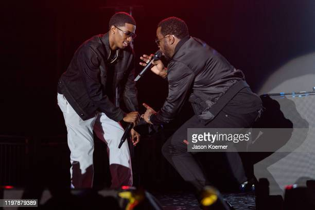 Christian Combs and Sean John Combs aka Didddy performs onstage during Shaq's Fun House at Mana Wynwood Convention Center on January 31 2020 in Miami...