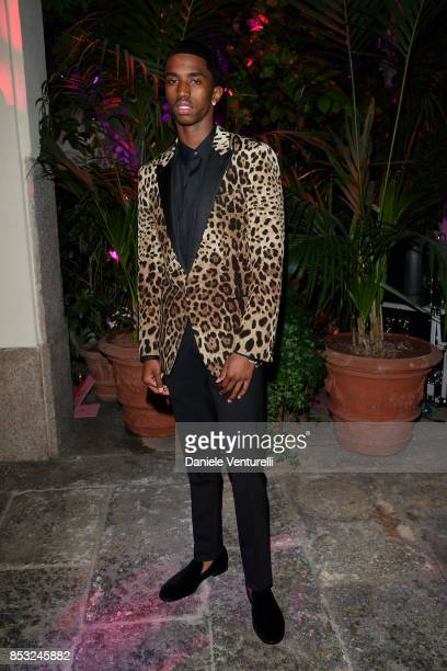 Christian Combs attends Dolce Gabbana Queen Of Hearts Party show during Milan Fashion Week Spring/Summer 2018 at on September 24 2017 in Milan Italy