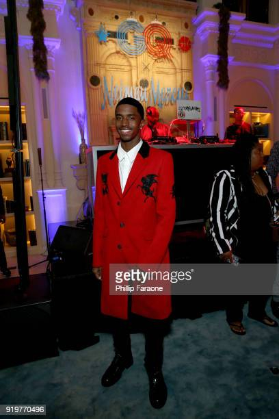 Christian Combs attends the 2018 GQ x Neiman Marcus All Star Party at Nomad Los Angeles on February 17 2018 in Los Angeles California
