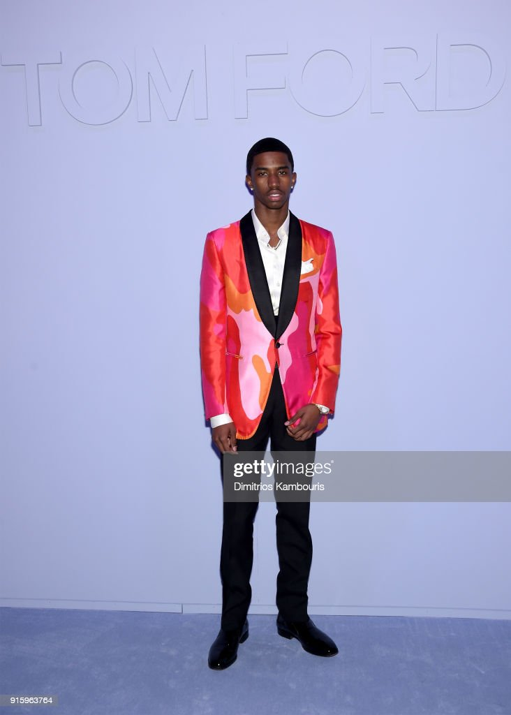 Christian Combs attends the Tom Ford Fall/Winter 2018 Women's Runway Show at the Park Avenue Armory on February 8, 2018 in New York City.