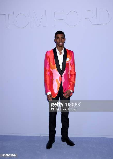 Christian Combs attends the Tom Ford Fall/Winter 2018 Women's Runway Show at the Park Avenue Armory on February 8 2018 in New York City