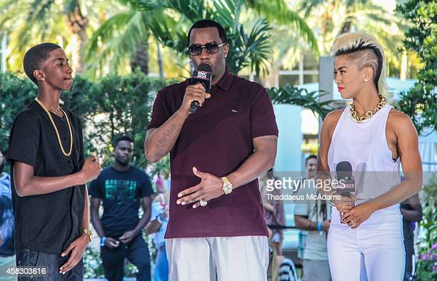 Christian Combs Diddy and Sib Vicious attends Revolt Music Conference at Fontainebleau Miami Beach on October 17 2014 in Miami Beach Florida
