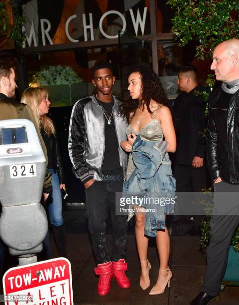 Christian Combs exits Mr Chow Resturant on February 10 2017 in Los Angeles California