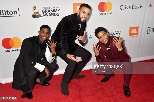 Christian Combs French Montana and Justin Dior Combs attends the Clive Davis and Recording Academy PreGRAMMY Gala and GRAMMY Salute to Industry Icons...