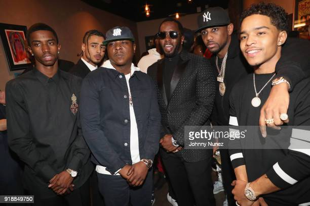 Christian Combs Quincy Brown Jadakiss Sean Combs Fabolous and Justin Dior Combs attend the 2018 Global Spin Awards at The Novo by Microsoft on...