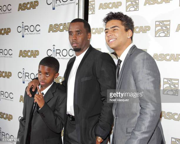Christian Combs Sean 'Diddy' Combs and Quincy Jones Brown attend 24th Annual Rhythm Soul Music Awards at the Beverly Hilton Hotel on June 24 2011 in...