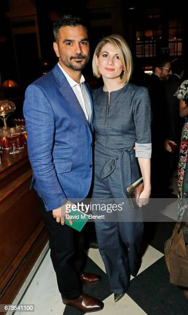 Christian Contreras and Jodie Whittaker attend the launch of The Ned London on April 26 2017 in London England
