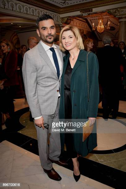 Christian Contreras and Jodie Whittaker attend the press night performance of 'Hamilton' at The Victoria Palace Theatre on December 21 2017 in London...