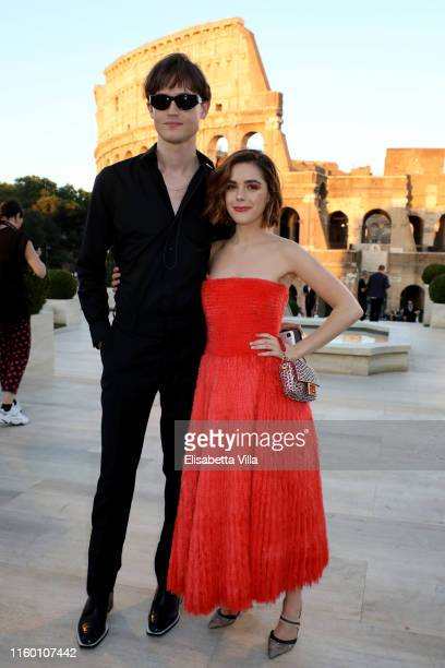 Christian Coppola and Kiernan Shipka attend the Cocktail at Fendi Couture Fall Winter 2019/2020 on July 04 2019 in Rome Italy