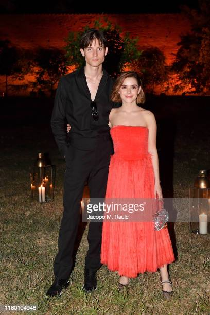 Christian Coppola and Kiernan Shipka attend the Fendi Couture Fall Winter 2019/2020 Dinner on July 04 2019 in Rome Italy