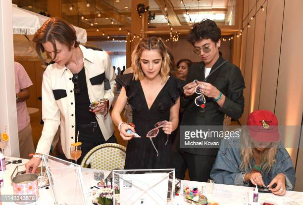 Christian Coppola Kiernan Shipka and Charlie Oldman attend The Zoe Report's 5th Annual ZOEasis at The Parker Hotel on April 12 2019 in Palm Springs...