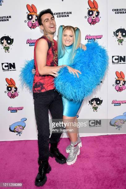 Christian Cowan and Meghan Trainor attend the 2020 Christian Cowan x Powerpuff Girls Runway Show on March 08 2020 in Hollywood California
