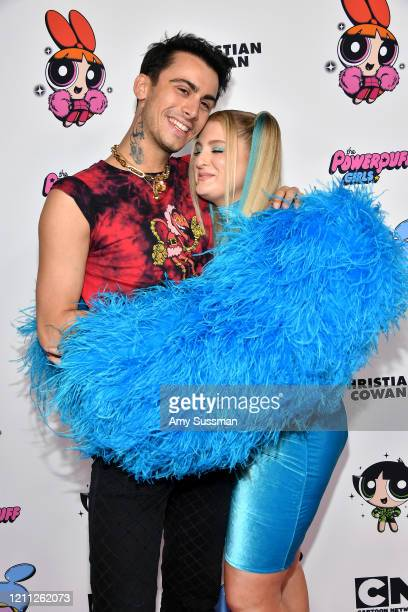Christian Cowan and Meghan Trainor attend the 2020 Christian Cowan x Powerpuff Girls Runway Show on March 08 2020 in Hollywood California