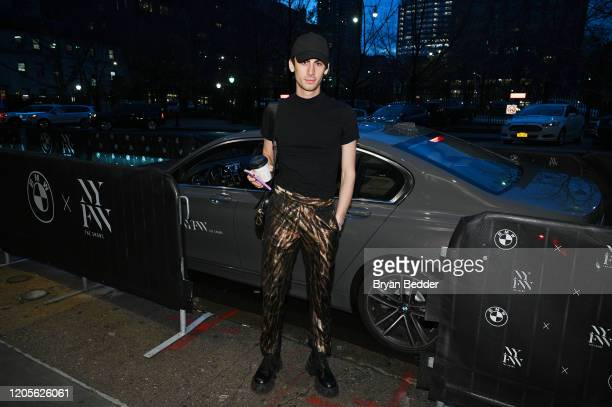 Christian Cowan arrives to NYFW: The Shows in a BMW 750i xDrive Sedan in New York City on February 06, 2020. For the second consecutive year, BMW is...