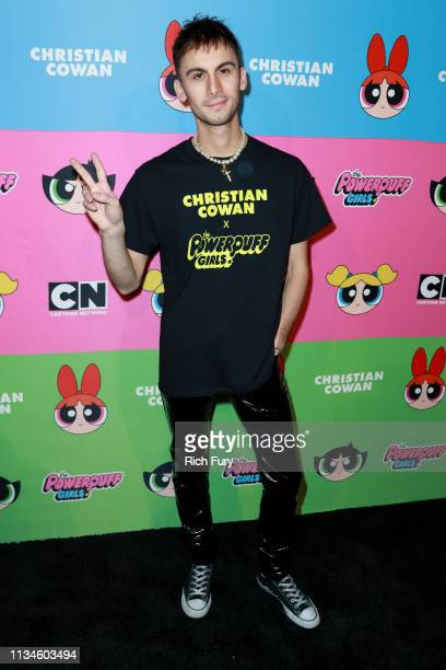 Christian Cowan attends Christian Cowan x The Powerpuff Girls at City Market Social House on March 08, 2019 in Los Angeles, California.