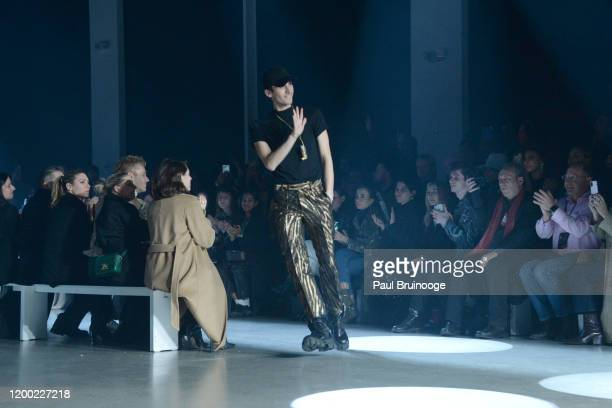 Christian Cowan walks the runway at Christian Cowan AW/20 Fashion Show on February 11 2020 at Spring Studios in New York City