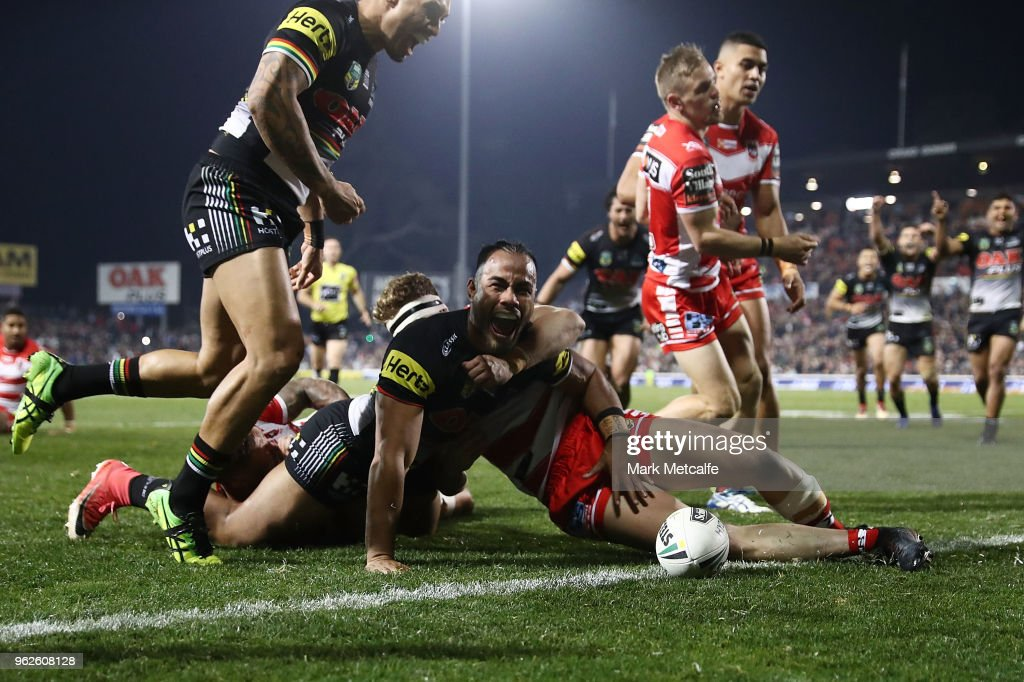 NRL Rd 12 - Panthers v Dragons : News Photo