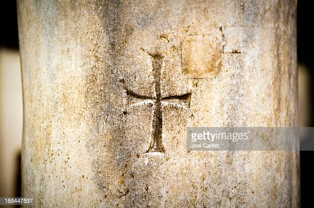 Christian cross at St. Barbara church in Old Cairo, Egypt