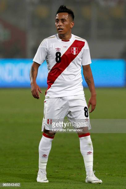 Christian Cueva of Peru looks on during the international friendly match between Peru and Scotland at Estadio Nacional de Lima on May 29 2018 in Lima...
