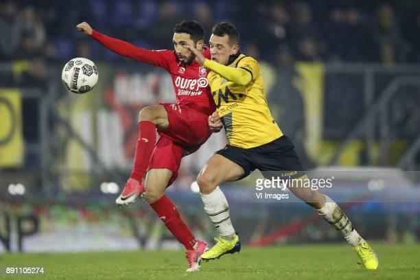 Christian Cuevas of FC Twente Giovanni Korte of NAC Breda during the Dutch Eredivisie match between NAC Breda and FC Twente Enschede at the Rat...