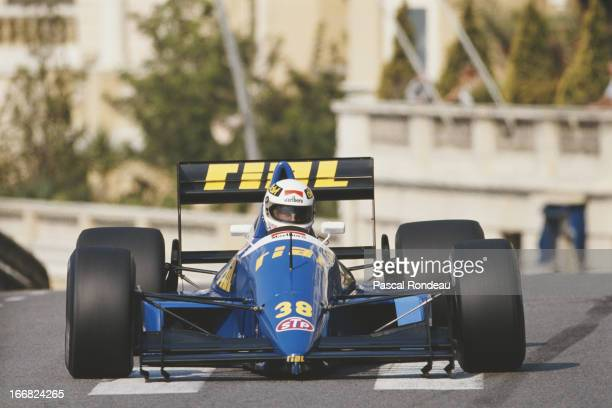 Christian Danner of Germany drives the Rial Racing Rial ARC2 Ford Cosworth DFR V8 during practice for the Grand Prix of Monaco on 6th May 1989 on the...