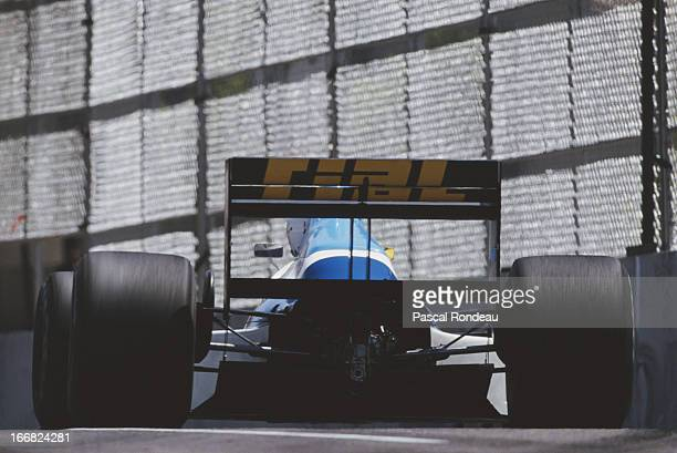 Christian Danner of Germany drives the Rial Racing Rial ARC2 Ford Cosworth DFR V8 during the Iceberg United States Grand Prix on 4th June 1989 at the...