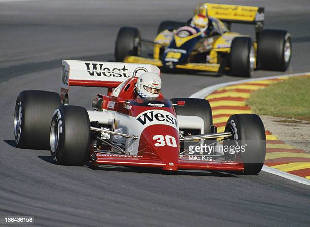 Christian Danner of Germany drives the West Zakspeed Racing Zakspeed 841 Zakspeed 1500/4 L4T turbo during the Shell Oils Grand Prix of Europe on 6th...