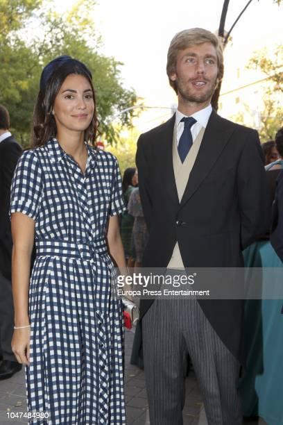 Christian de Hannover and Alessandra de Osma attend the wedding of MarIa VegaPenichet and Fernando Ramos de Lucas at Espiritu Santo church on October...