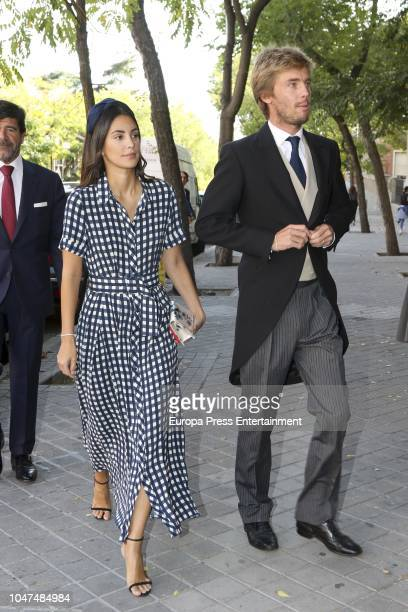 Christian de Hannover and Alessandra de Osma attend the wedding of MarIa VegaPenichet and Fernando Ramos de Lucas at Espiritu Santo church on October...