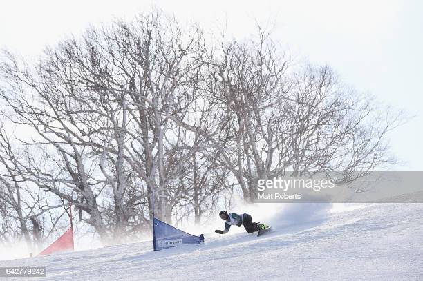 Christian De Oliveira of Australia competes in Men's Giant Slalom on day two of the 2017 Sapporo Asian Winter Games at Sapporo Teine on February 19,...