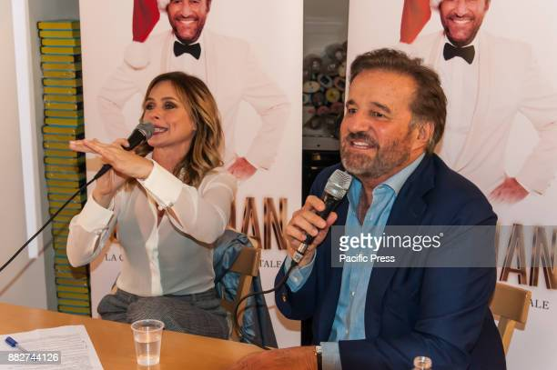 LA FELTRINELLI NAPLES ITALY/ CAMPANIA ITALY Christian De Sica famous Italian actor with Serena Autieri presents his album 'Merry Christian' with a...