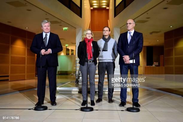 Christian Democratic Union politician Bernd Althusmann Bavarian Social Democratic Party chairwoman Natascha Kohnen Berlin's mayor Michael Mueller and...