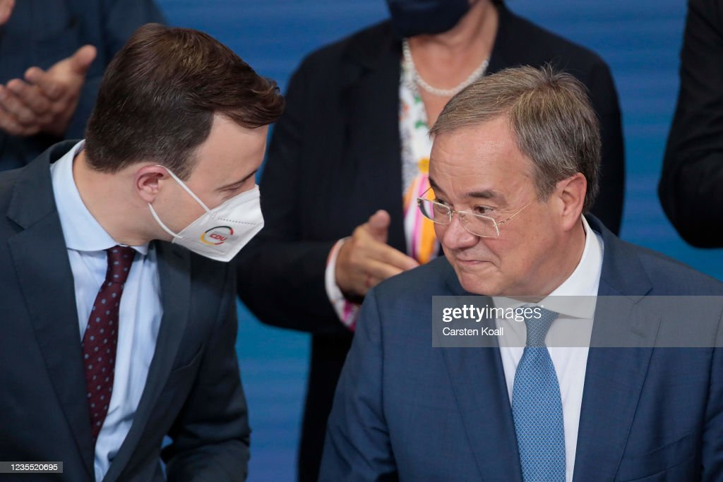 Christian Democrats (CDU) React To Election Results : News Photo