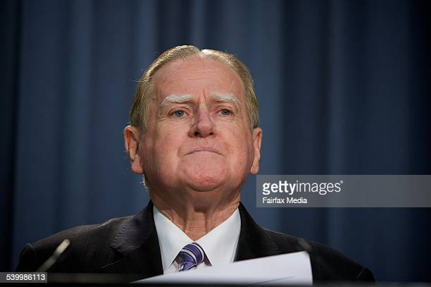 Christian Democrats leader Fred Nile speaks to media following revelations that his staff's parliamentary computers were used to acess pornographic...