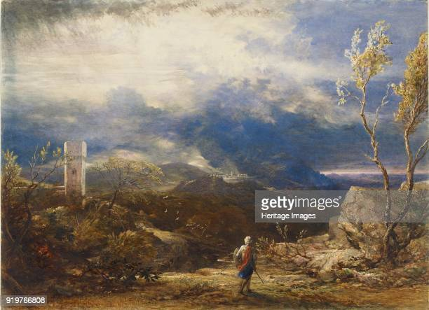 Christian Descending into the Valley of Humiliation 1848 Artist Samuel Palmer