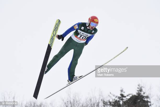 Christian Deuschl of Austria competes in the Individual Gundersen LH/10km during day two of the FIS Nordic Combined World Cup Hakuba on February 4...