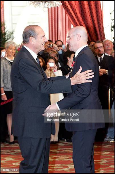 Christian Deydier is elevated to the rank of Officer of the Legion of Honor by the French President Jacques Chirac Awards ceremony at the Elysee...