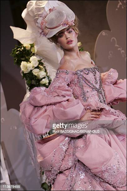Christian Dior Haute Couture AutumnWinter 20072008 fashion show at Orangerie in Versailles Palace in Versailles France On July 02 2007Helena...