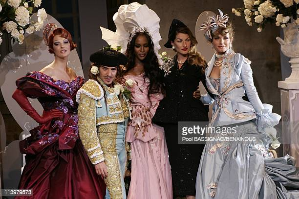 Christian Dior Haute Couture AutumnWinter 20072008 fashion show at Orangerie in Versailles Palace in Versailles France On July 02 2007Linda...