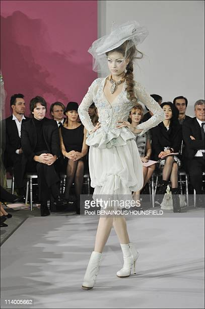 Christian Dior Haute Couture Spring Summer 2010 Fashion Show in Paris France On January 25 2010In the background Antoine Arnault Helene de...