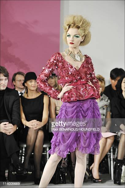 Christian Dior Haute Couture Spring Summer 2010 Fashion Show In Paris France On January 25 2010In the background Antoine Arnault Helene de Fougerolles