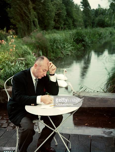 Christian Dior in France in the 1950s - At work.
