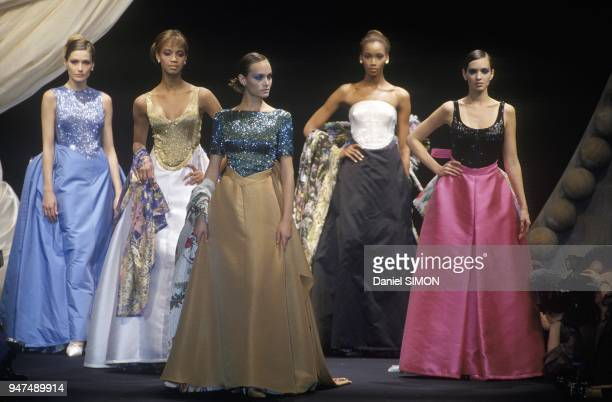 Christian Dior s Models At Haute Couture Spring Summer 1994 Show Paris January 1994